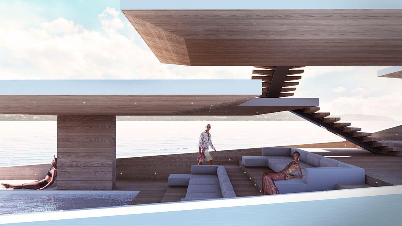 La Petite Terrasse Lujac Desautel Yacht Design