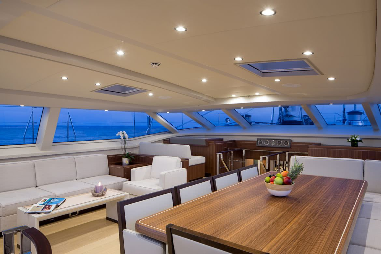 Sea Eagle Yacht Interior Royal Huisman Rhoades Young
