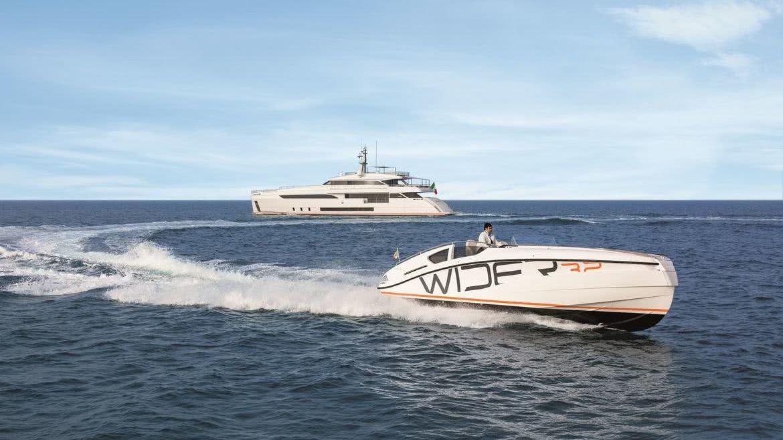 Wider 150 Bartali Hybrid Yacht Wider 32 Tender