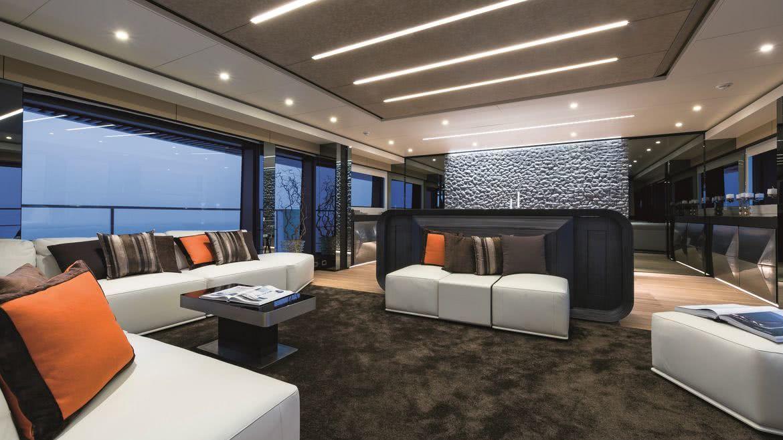 Wider 150 Bartali Hybrid Yacht Interior