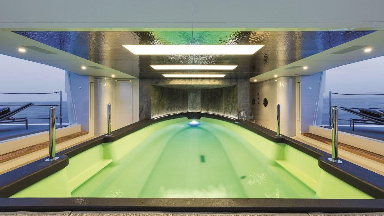 Wider 150 Bartali Hybrid Yacht Interior Pool