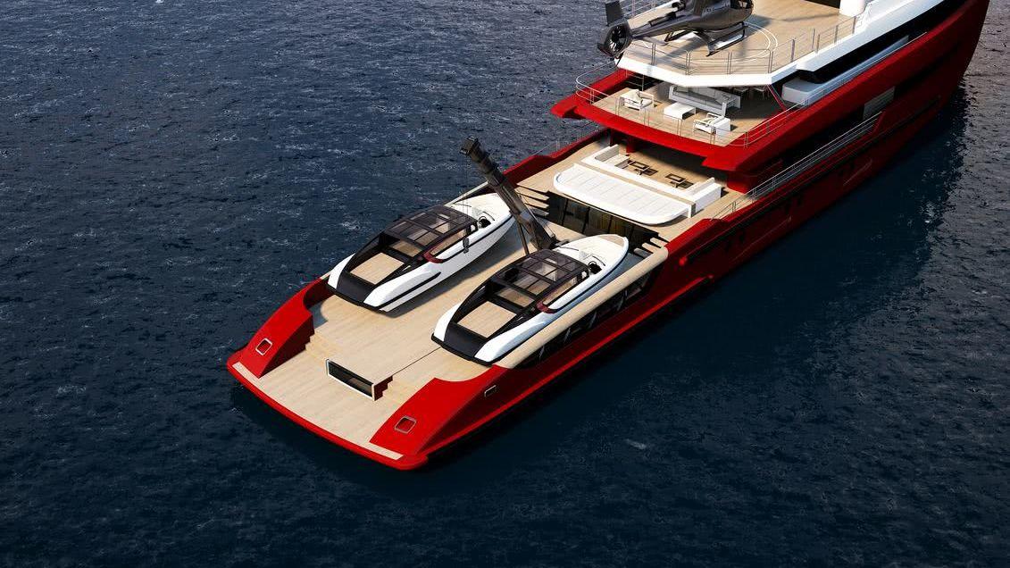 Tomahawk Explorer Yacht Columbus Yachts Tender Storage
