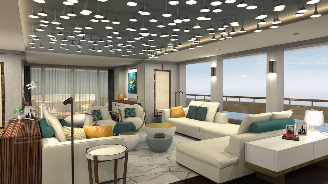 Couach 38m Lounge Collection Motor Yacht Interior Design