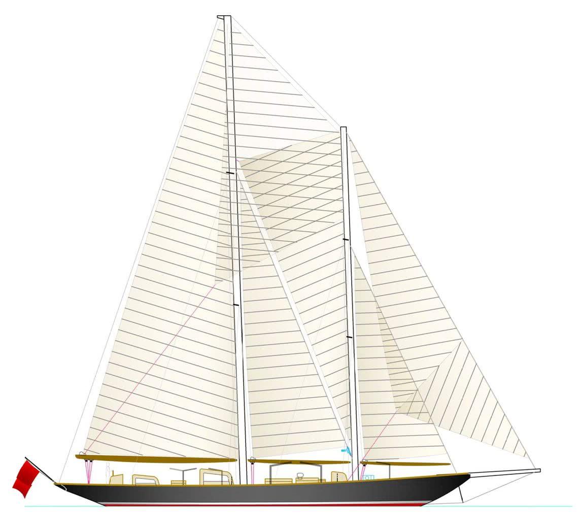 Vagrant Sailing Yacht Herreshoff