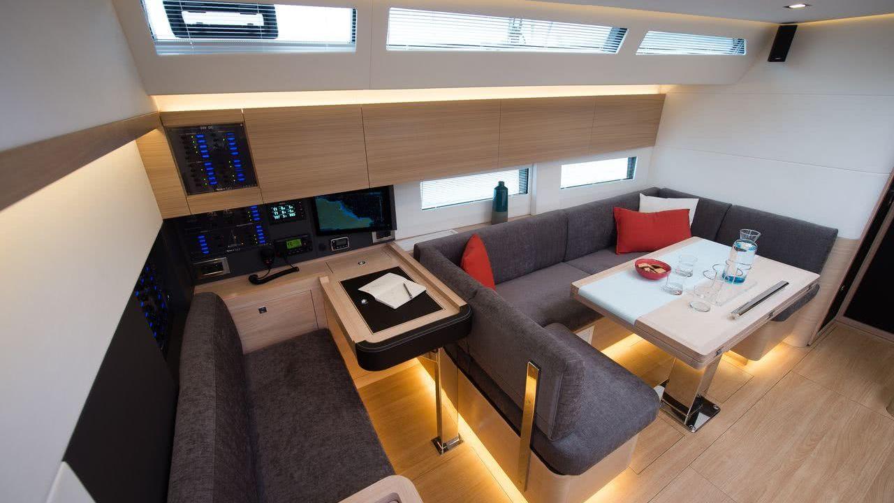 Amel 50 Interior Sailing Yacht
