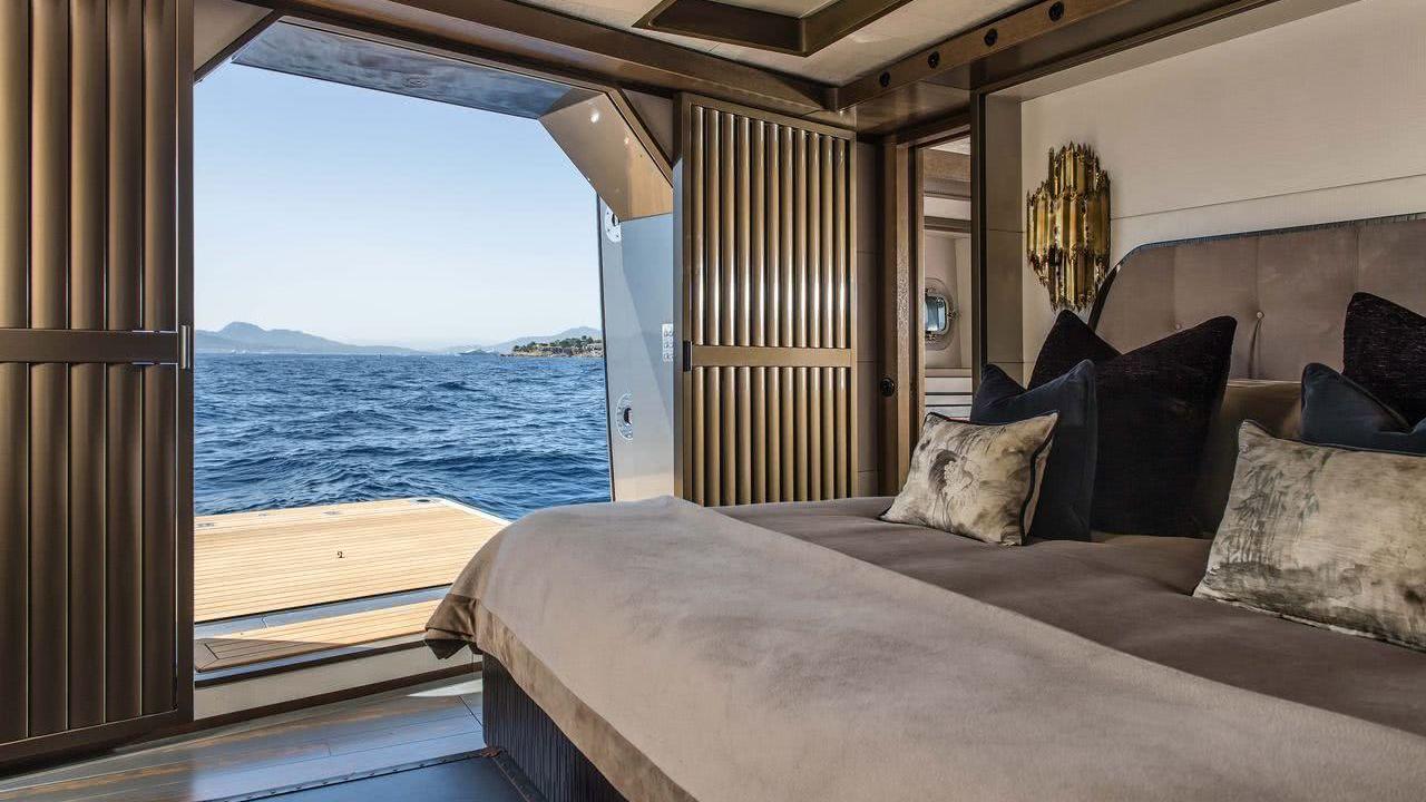 Sailing Yacht Pink Gin VI Interior Baltic Yachts Balcony