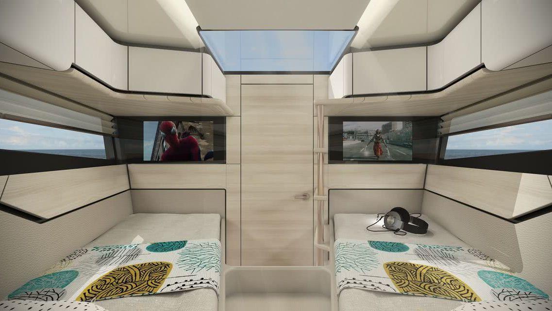 Flying Flipper GT 42 Red Yacht Design Interior
