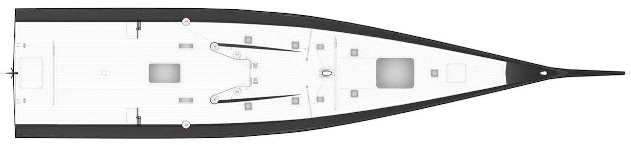 Wally Sailing Yacht Tango Deck Layout
