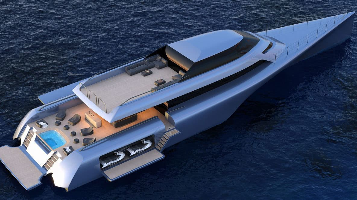 MC155 Trimaran Motor Yacht Design