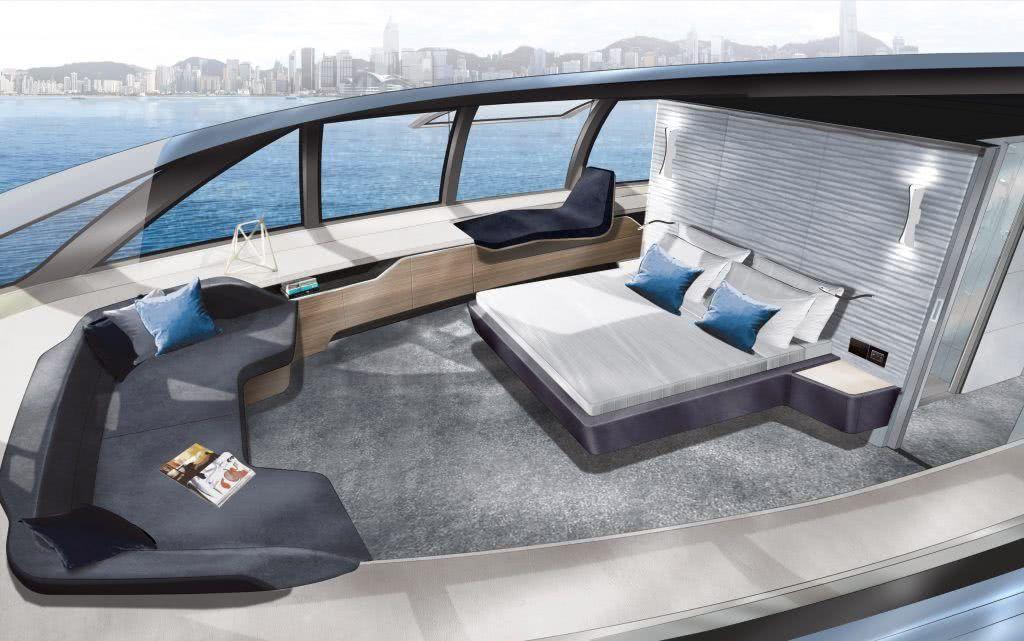 MC155 Trimaran Motor Yacht Interior Design