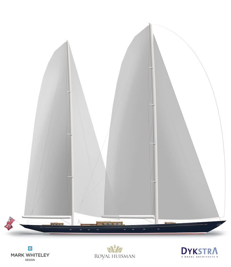 Sailing Yacht AQUARIUS Sail Plan
