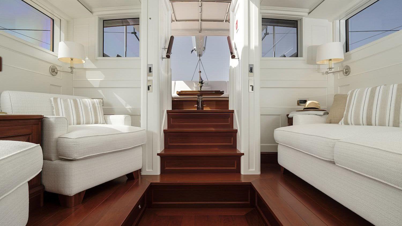 Sailing Yacht AQUARIUS Royal Huisman Owner's Deckhouse