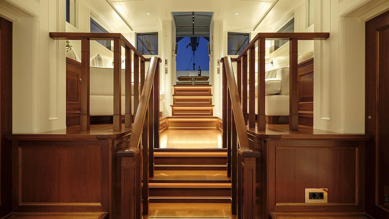 Sailing Yacht AQUARIUS Royal Huisman Owner Suite Mark Whiteley Design