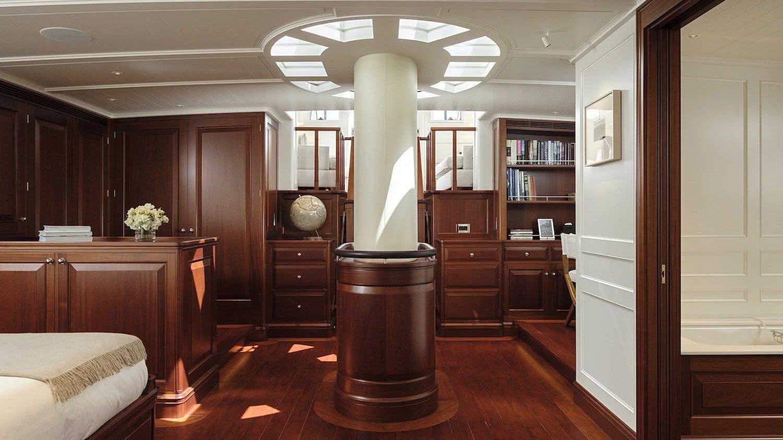 Sailing Yacht AQUARIUS Royal Huisman Owner Suite