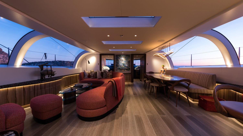 Interior Sailing Yacht Ngoni