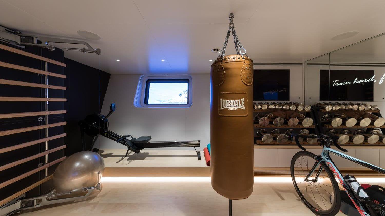 Interior Sailing Yacht Ngoni Gym