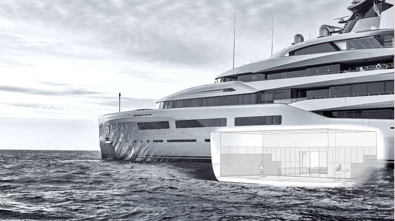 Aviva Motor Yacht with Padel Tennis Court