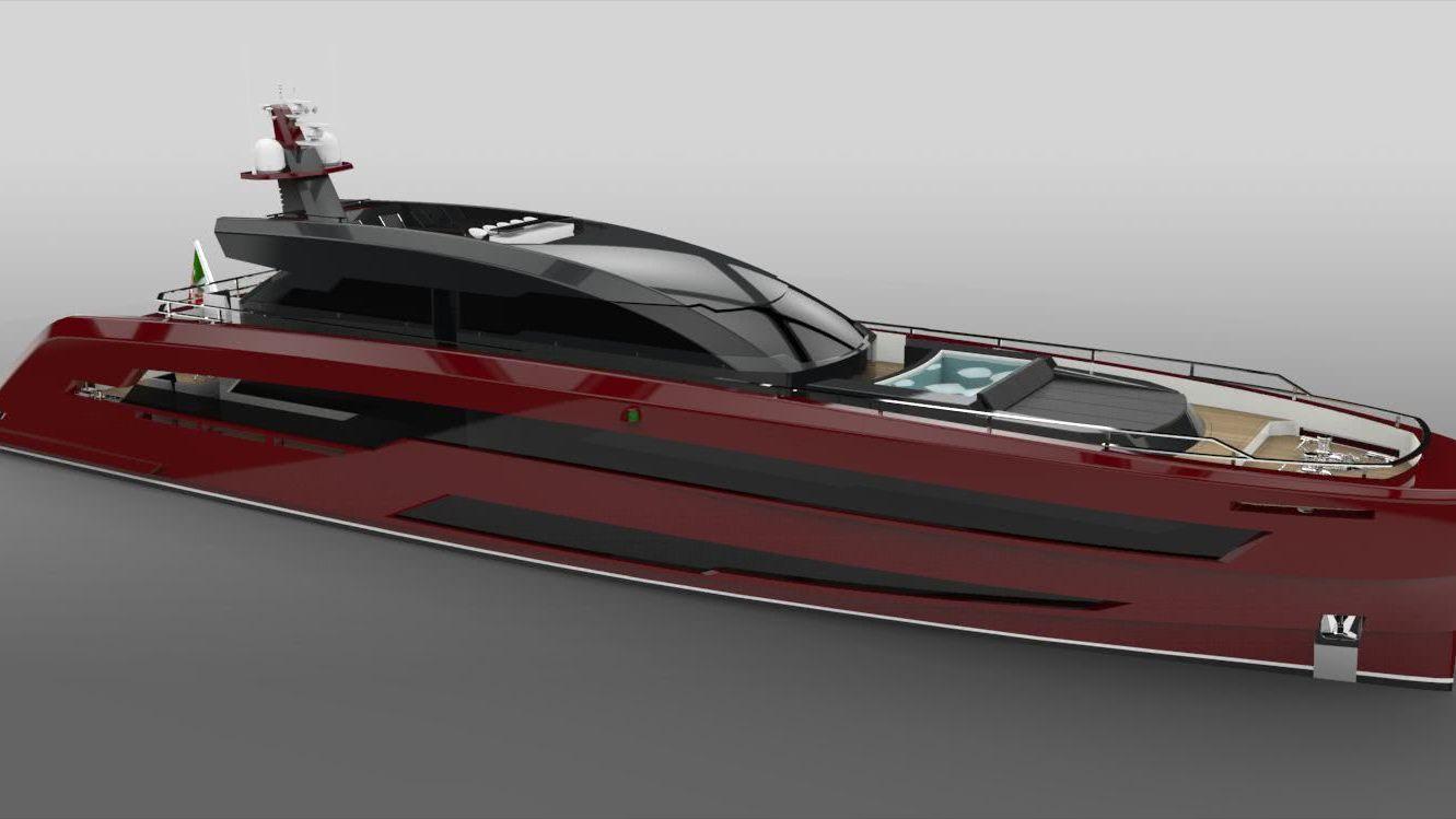 Red Lion Motor Yacht Yankee Delta Studio Michele Stefàno