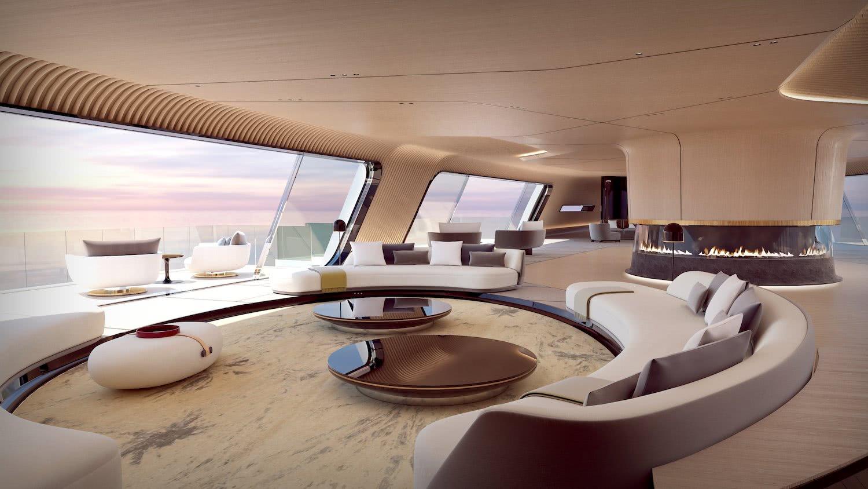 Tuhura Motor Yacht Oceanco Interior Design