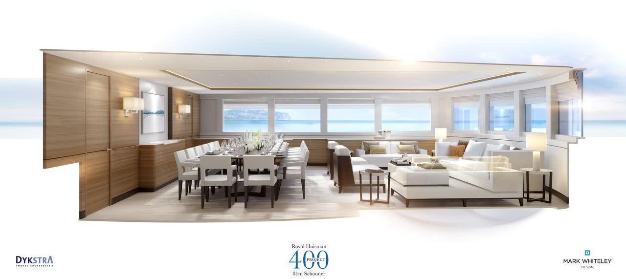 Project 400 Sea Eagle II Royal Huisman Sailing Yacht Interior