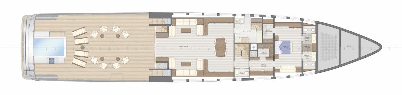 Rosetti Superyachts 48m Support Vessel General Arrangement
