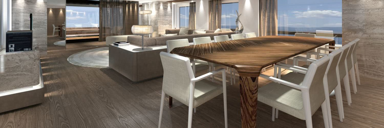 Elettra Motor Yacht Interior Design