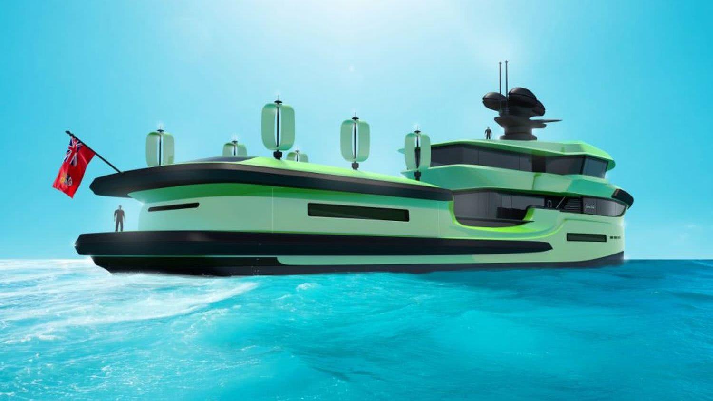 65m Motor Yacht Explorer Wind Turbine Nedship Group