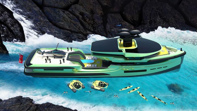 65m Motor Yacht Explorer Helipad Dennis Ingemansson Design