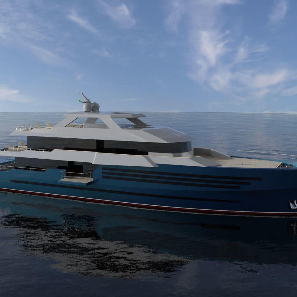45m Motor Yacht Design Ramazan Örnek