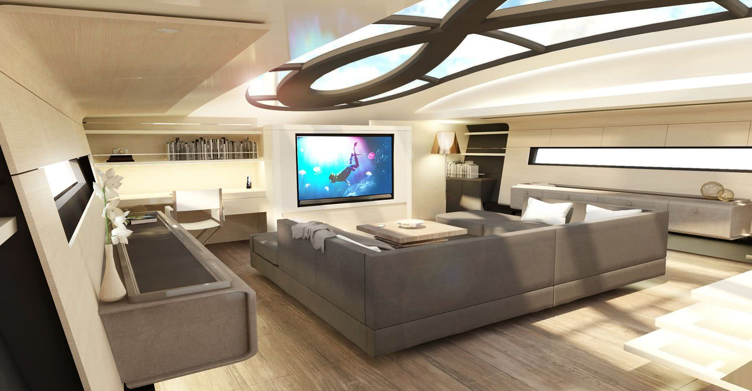 Infinity 105 Sailing Yacht with DSS Foil Interior