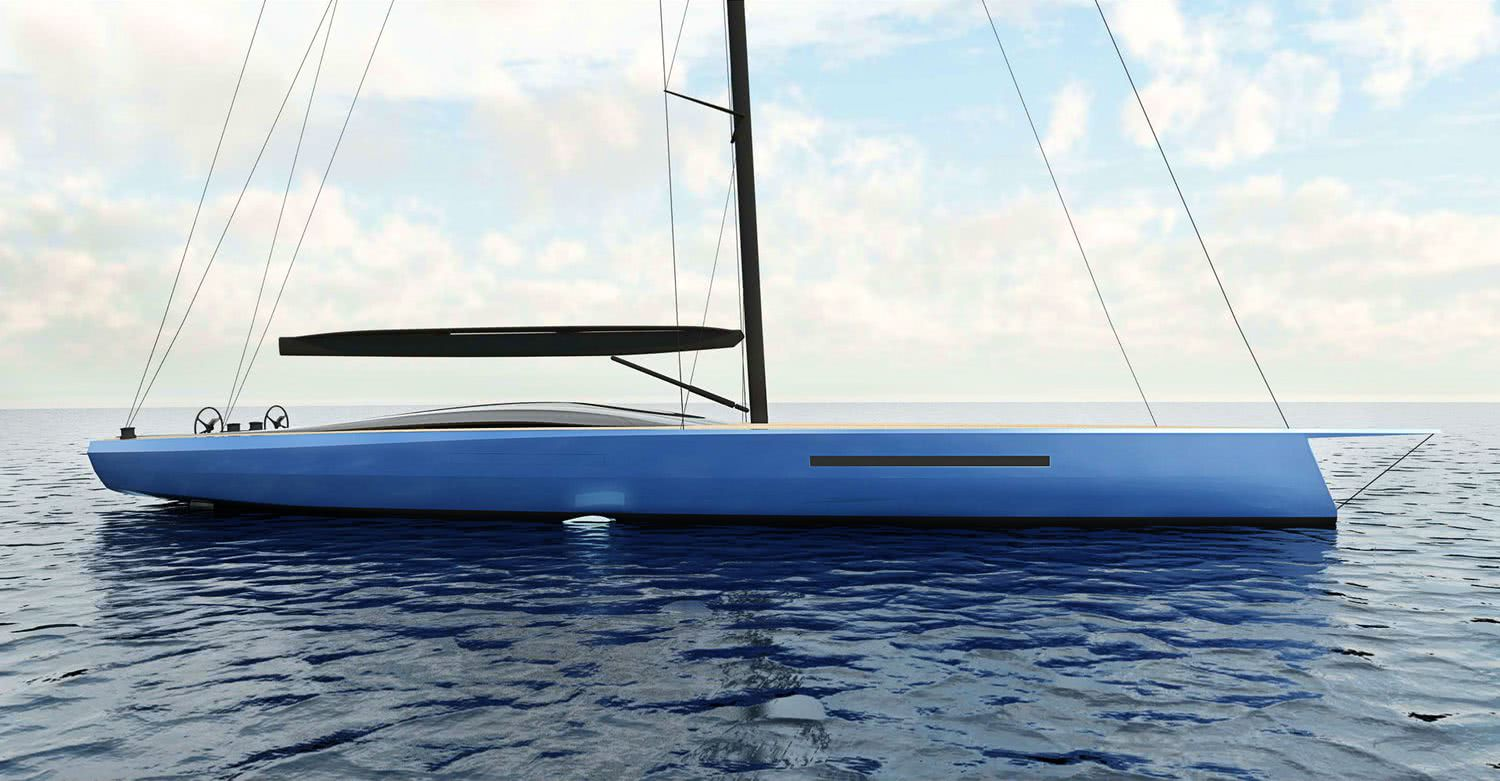 Infinity 105 Sailing Yacht with DSS Foil