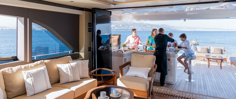 Majesty 100 Motor Yacht Interior