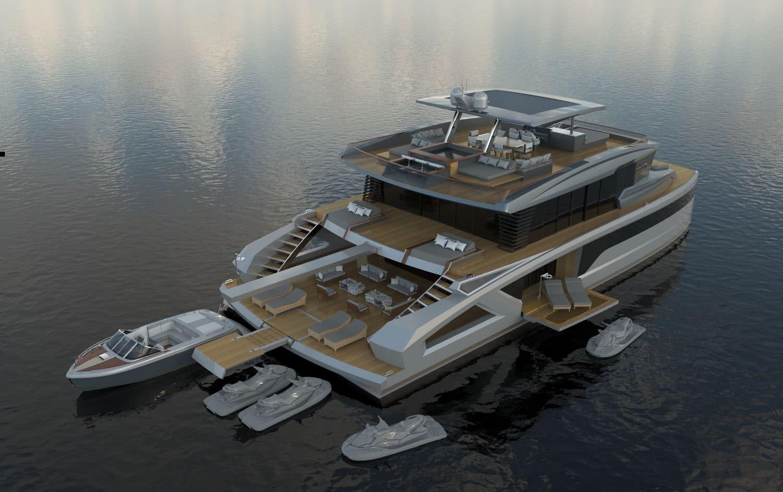 OASIS Catamaran Yacht Lazzara Ombres Architects
