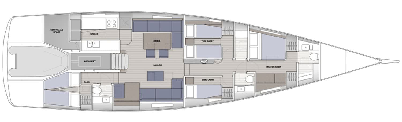 Baltic 67 Performance Cruiser Sailing Yacht Layout