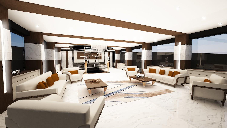 Eleuthera De Azcarate Design 100m Motor Yacht Interior