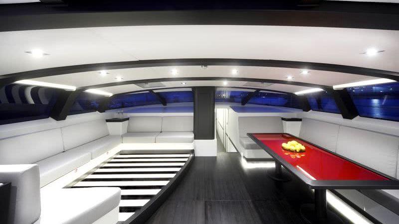 Nomad IV Sailing Yacht Maxi Dolphin Interior