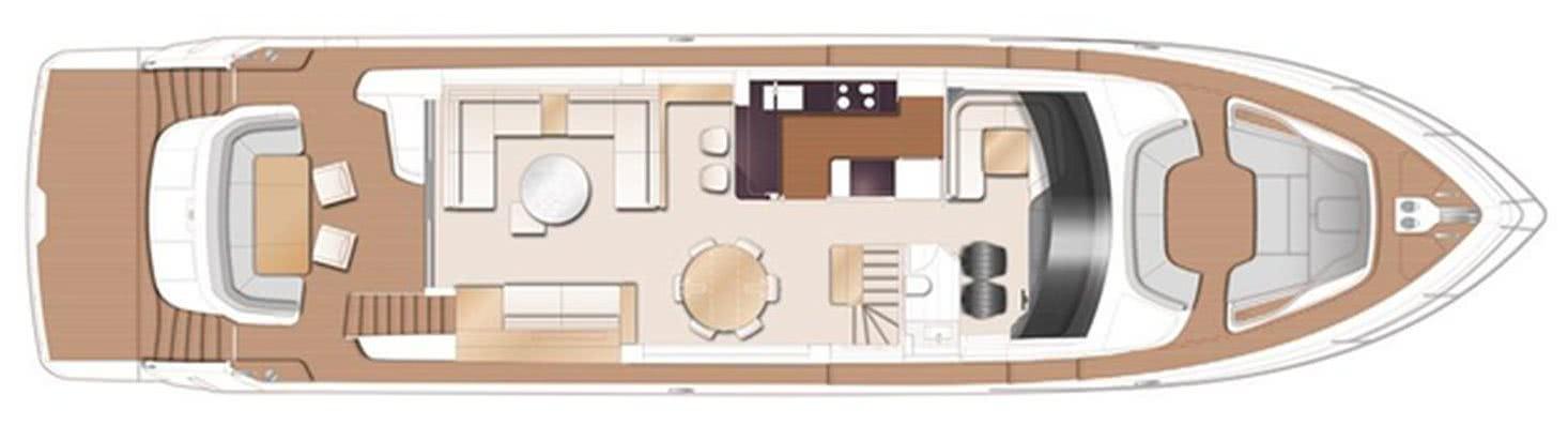 Princess Y85 Motor Yacht Layout