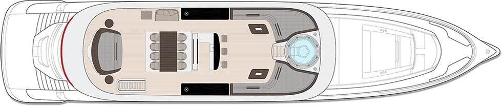 Dynamiq GTT 115 Porsche Design Motor Yacht Layout