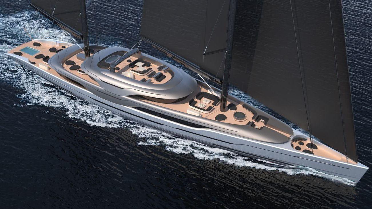 93m Sailing Yacht Ripple Van geest Yacht Design