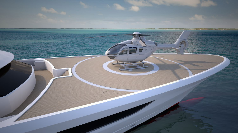 Cosmos Motor Yacht Heesen Yachts Helipad