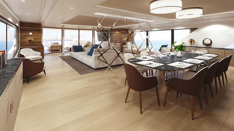 Rosetti Superyachts 52m Motor Yacht Interior Design