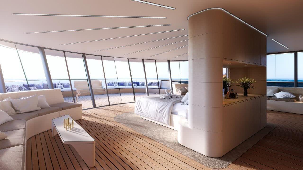 SE77ANTASETTE Benetti Motor Yacht Interior Design
