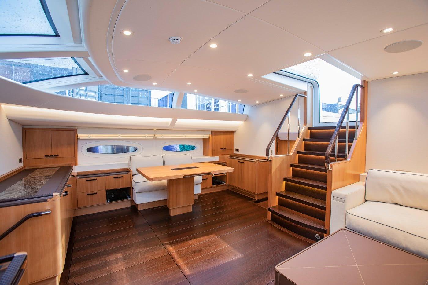 Baltic 85 Interior Deck Salon