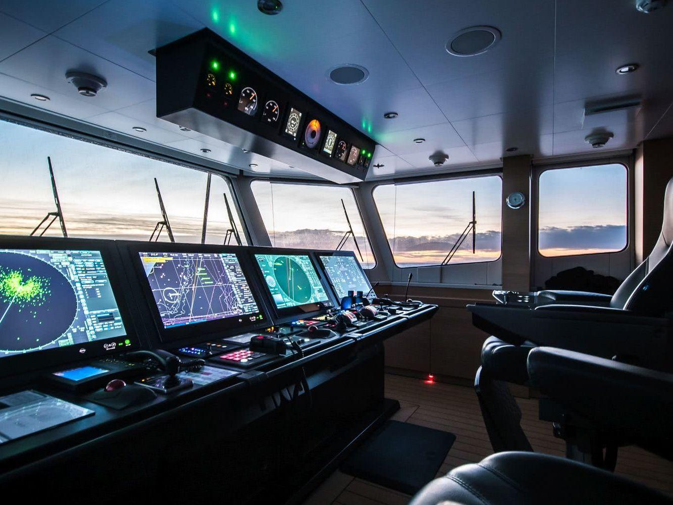 Game Changer Damen Yacht Support Vessel Bridge