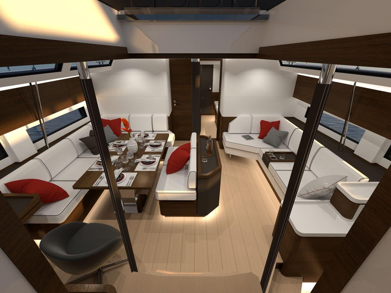 Amel 60 Luxury Sailing Yacht Interior