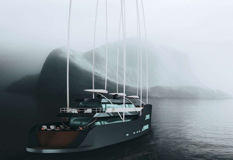 Crystal Glaciers Mateij Pinkos Sailing Yacht with Solar Sails