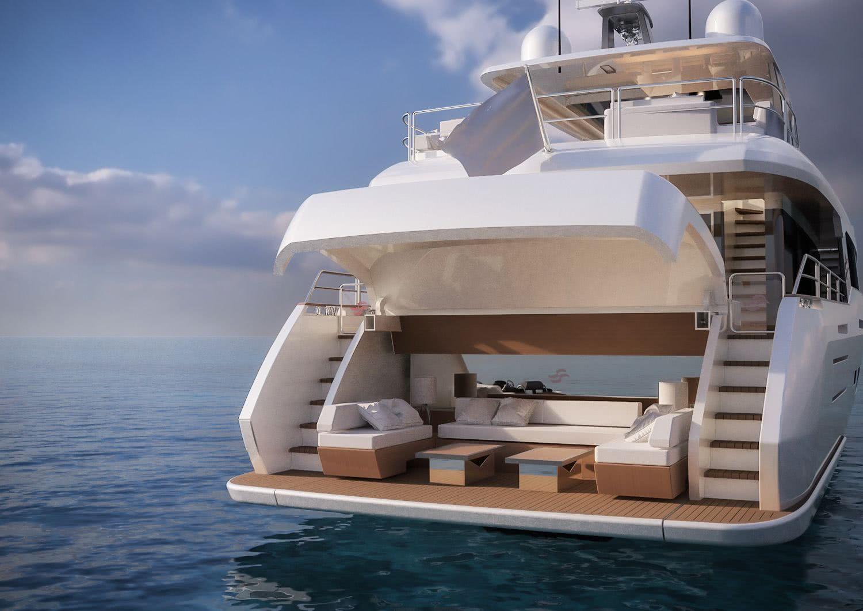 Sirena 88 Motor Yacht Beach Club