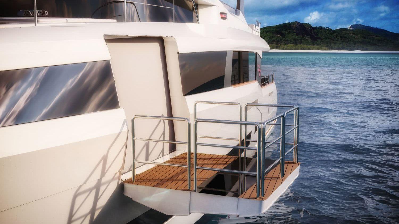 Sirena 88 Motor Yacht Balcony