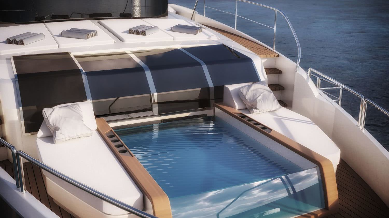 Sirena 88 Motor Yacht Pool