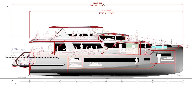 Sirena 88 Motor Yacht General Arrangement